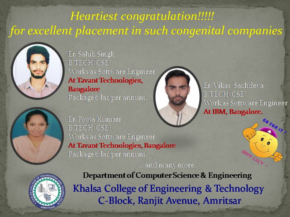 Welcome to Khalsa College of Engineering and Technology